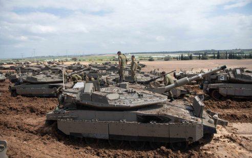 """צה""""ל תקף בירי פגזים לעבר מרכז עזה בתגובה לירי של מחבלים לעבר הכוחות"""