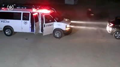 """צפו: צוות בילוש, יס""""מ ומג""""ב עוצר חוליית חיסול דקות לאחר הירי ברמלה"""