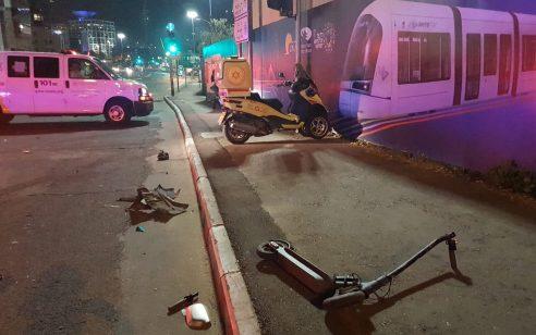 רוכב קורקינט כבן 25 נפצע אנוש מפגיעת רכב בכביש 40 סמוך לגדרה