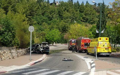 חשד לחיסול: הרוג בפיצוץ רכב בנשר