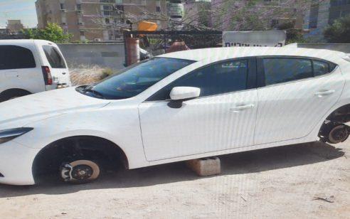 תושב הפזורה נעצר בחשד שפירק גלגלי כלי רכב בחניון בבאר שבע וגנב אותם