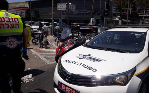 הולך רגל בן 36 נפגע מאופנוע בתל אביב – מצבו בינוני