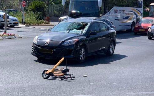 רוכבת קורקינט חשמלי בת 30 נפגעה מרכב בתל אביב – מצבה בינוני