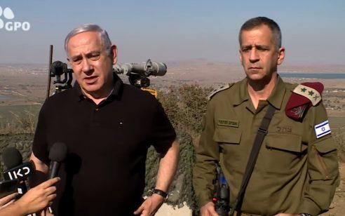 """נתניהו בגולן: """"מדינה שתאפשר התקפות נגדנו משטחה תישא בתוצאות"""""""
