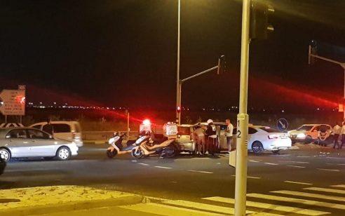 פצועה בינוני ו-5 קל בתאונה סמוך לצומת חסידים