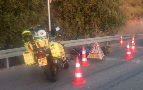 שני פצועים קשה לאחר שאופנוע החליק בין צומת ראם לבית שמש