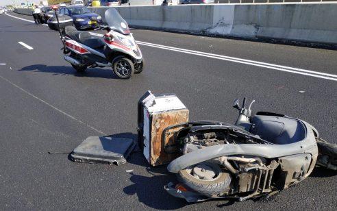 בן 45 שרכב על אופנוע נפצע בינוני מפגיעת רכב בכביש 471