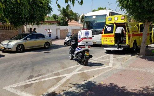 שני רוכבי אופנוע נפצעו בתאונה בראשון לציון