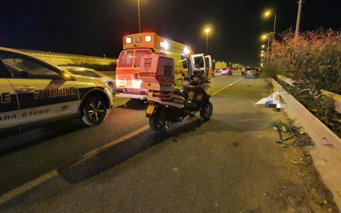 הולך רגל כבן 60 נהרג מפגיעת רכב בכביש 20 סמוך למחלף חולות