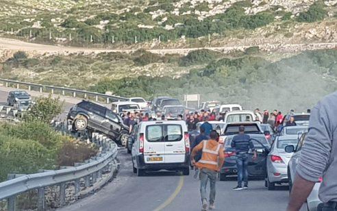 הקטל בכבישים: שלושה הרוגים בתאונה בין 2 רכבים בכביש 596 סמוך לריחן