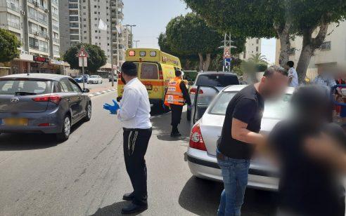 בן שנה וחצי נפל מרכב נוסע באשדוד – מצבו בינוני