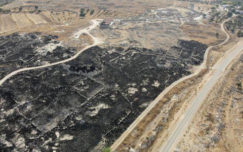 הצתה מכוונת של ערבים באתר המורשת הלאומי סוסיא העתיקה