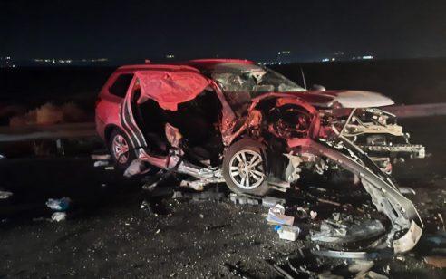גבר בן 37 נהרג וארבעה נפצעו קל בתאונה חזיתית בכביש 90 צפונית לצומת בית הערבה
