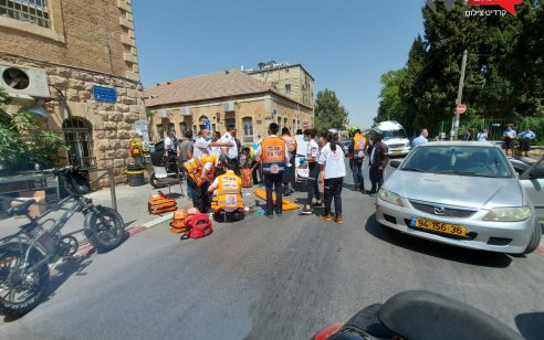 ירושלים: רוכב אופניים כבן 20 נפצע בתאונת דרכים – מצבו בינוני