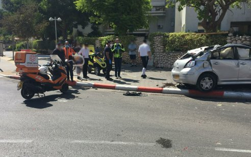 בן 30 נפצע קשה כתוצאה מהתפכות רכבו באשדוד