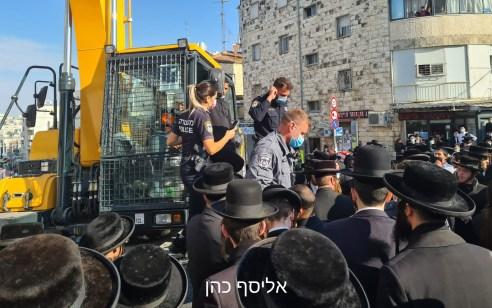 עשרות קיצונים מונעים את עבודות הרכבת הקלה בבר אילן בירושלים – 2 חשודים נעצרו   צפו