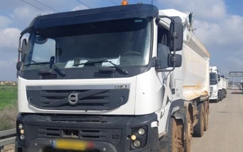 נהג משאית נתפס מוביל מטען חורג ב-10.6% והתחזה לנהג שיש לו רישיון על פול טריילר